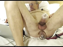 grandpa play and cum on webcam