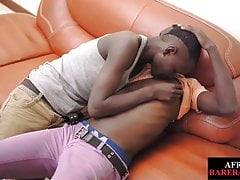 African twink breeded after blowing uncut dick