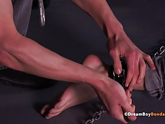 Jock Turned Bitch Boy BDSM Gay Bondage Whipping Kink College