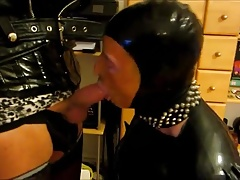 TV Mistress Humiliates Her Rubber Sissy