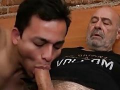 Gay son rims daddies ass and takes anal