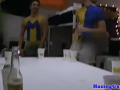 Masturbating straight twinks pounded in ass
