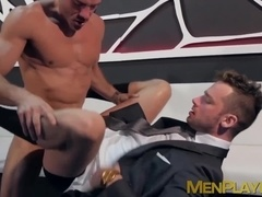 Guys in suits taking each others ass apart during gay sex
