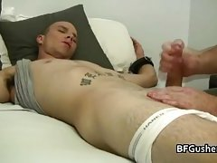 Holden getting his hard gay cock wanked
