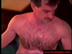 Cock tugging hunk solo