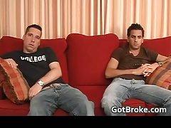 Aj ben sucking cock on a couch gay porn