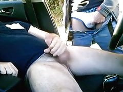 we have sex in the car with penetration and cum
