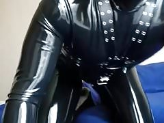 Rubber gimp in the bedroom