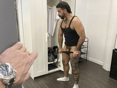 Office-based anal with Teddy Bryce and Manuel Skye