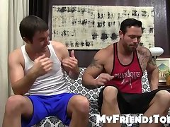 Gorgeous Joey gets his beautiful feet worshiped with tongue