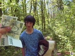 Long-haired Czech twink gets raw-dogged in the woods