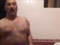 Hairy Turkish dad and his thick cock