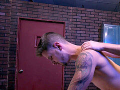 Gym fledgling bj's southern man in lockerroom