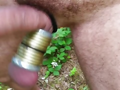 Shaking my ringed cock
