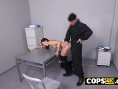 Hardcore interrogation with a babe