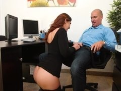 Busty lady got fucked in her office