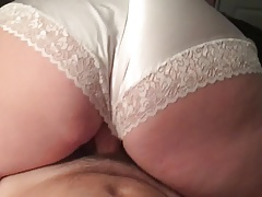 Satin ass wife riding slow