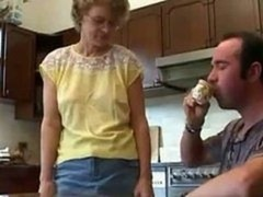 Hot & furthermore Ugly Mom & furthermore Her Son Kitchen Have an intercourse