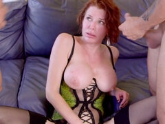 Redhead MILF Veronica Avluv gets hard double penetration