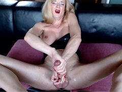 German Tranny Edges Big Hard Male Pole