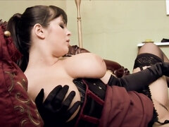 Madly horny blonde maid seduces and fucks her mistress