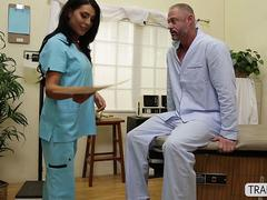 Ts nurse Chanel Santini loves giving a hearty blowjob