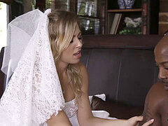 towheaded bride Zoey Monroe taking a hole yam-sized dark-hued dick