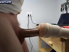 Twink Fleshlight in Garage