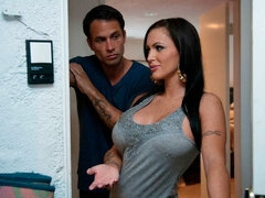 Pretty angelic babe with big boobs Jenna Presley fucked from behind