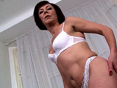 Mature mom dual penetration hard-core ass-fuck fucked in interracial sex video