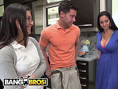 BANGBROS - Stepmom Ava Addams threesome With Step daughter-in-law Daisy Summers