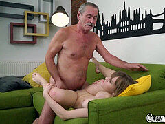 nubile penetrated by old man