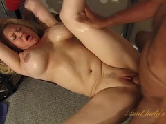 Samantha gets her tits covered in cum
