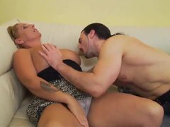 German guy is so horny that wants to fuck stepmom