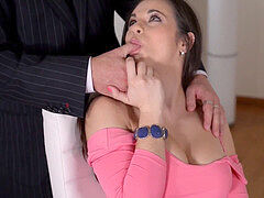 chesty  secretary Nekane gets her Big Butt plowed at Work