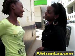 Energetic African Babes Keisha And Doreen Make Love In Bathroom