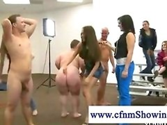 Cfnm woman being banged by a midget