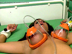 naked damsel in breast pump