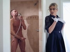 Cory Chase having wet shower fuck with her big dicked stepson