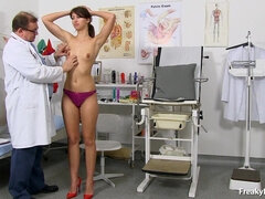 Kinky Doctor Is Examing A Juicy Vagina Of Very Tall Girl