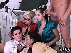 Naughty orgy session with piss-loving sluts