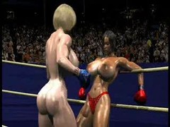 FPZ3D S vs G 3D Toon Fistfight Catfight Milk sacks One-Sided
