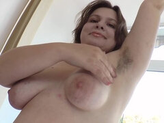 Adelina is feeling sexy and strips naked to show