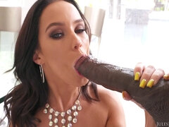 Lady Goes Rear To Mouth With Big Black Dick - HARDCORE MOVIE