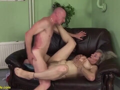 GRANNYGUIDE - furry moms very first raunchy good-sized rod hump