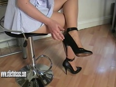 Naughty nurse in sexy heels gives special fetish treatment