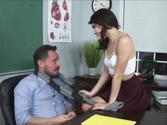Adria Rae throats & gets plowed in her classrom by her professor