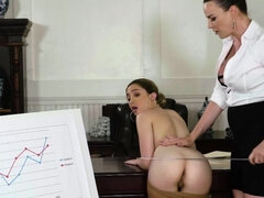 Astonishing chicks Dana DeArmond and Jane Wilde are fucking in the office