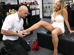 Olivia Austin has a shoe fetish and Jmac has a foot fetish
