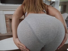 Spicy hottie with huge boobs Natasha Nice rides a hard sausage